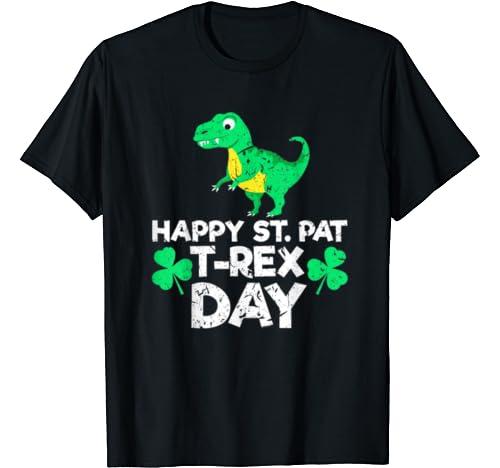 Happy St Patrex Day Funny Dinosaur St Patricks Day T Shirt