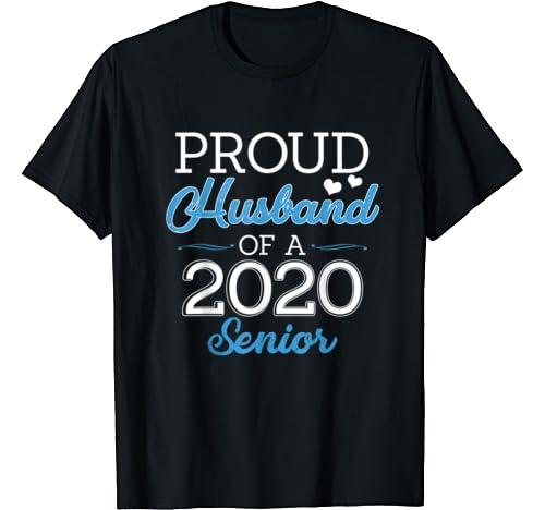 Mens Proud Husband Of A Class Of 2020 Senior Graduation T Shirt