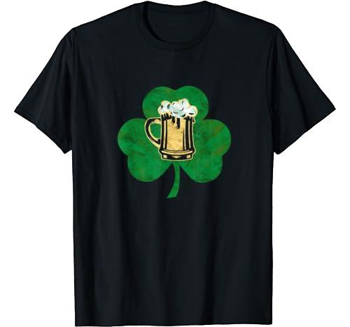 Beer Shamrock St Patricks Day Shirt Gift For Men T Shirt
