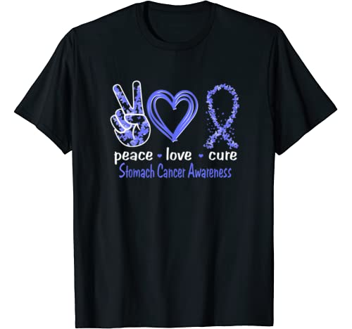 Peace Love Cure Stomach Cancer Awareness T Shirt