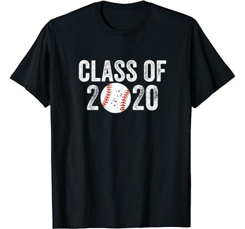 Baseball Fan Gift For High School Senior Boy Class Of 2020 T Shirt