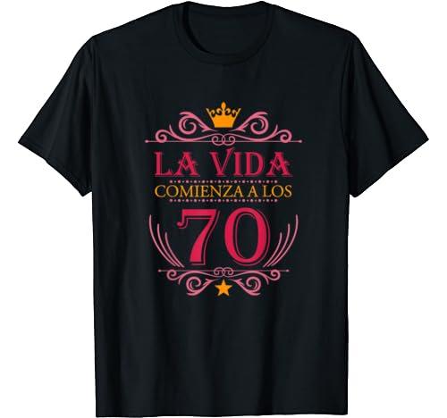 Amazon.com: Regalo Camiseta Para Mujer de Cumpleanos 70 anos ...