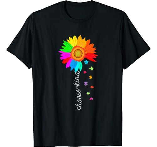 Kindness Be Kind Autism Awareness Sunflower T Shirt T Shirt