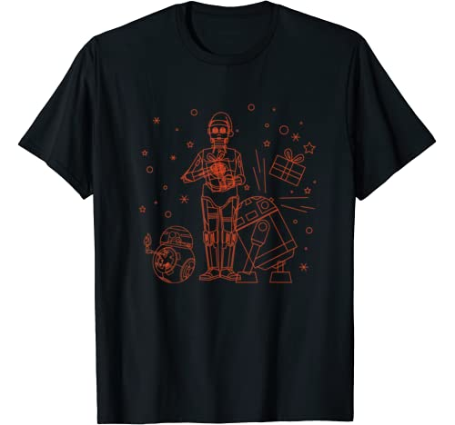 Star Wars Holiday C 3 Po R2 D2 Bb 8 Christmas Party T Shirt