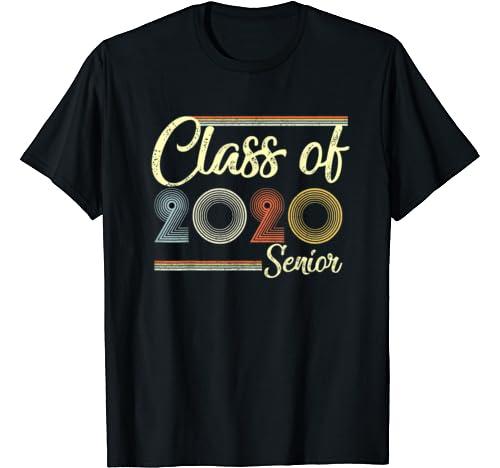 Vintage Class Of 2020 Costume Graduation Gift Senior T Shirt