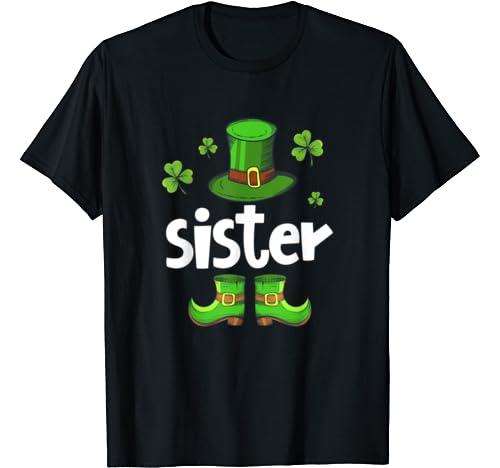 Leprechaun Sister Matching Family St Patrick's Day Irish T Shirt
