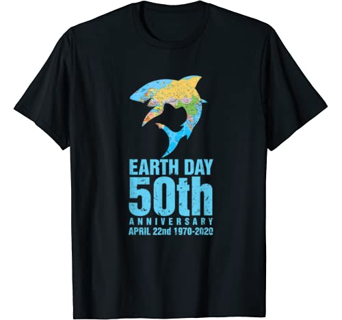 Earth Day 50th Anniversary 1970 2020 Shark Lover Costume T Shirt