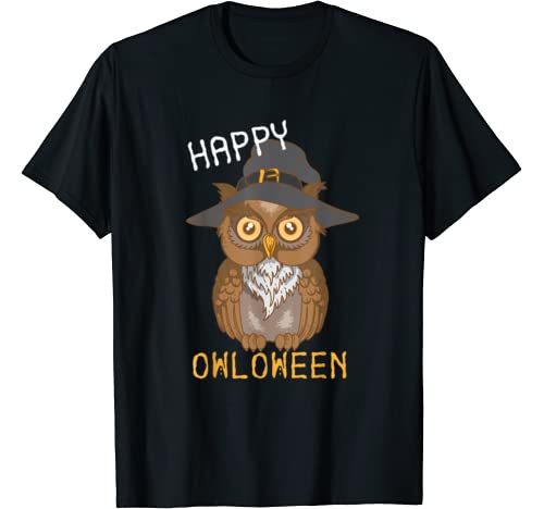 Happy Owloween | Cute Funny Halloween Costume Gift T Shirt