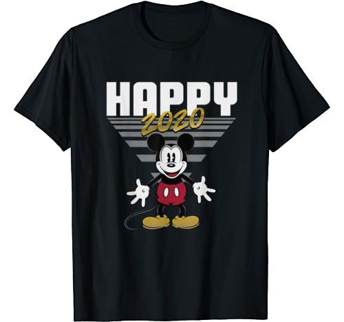Disney Mickey Mouse Retro Happy 2020 T Shirt