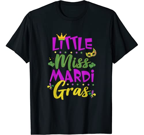 Funny Little Miss Mardi Gras Cute Girl Mardi Gras T Shirt