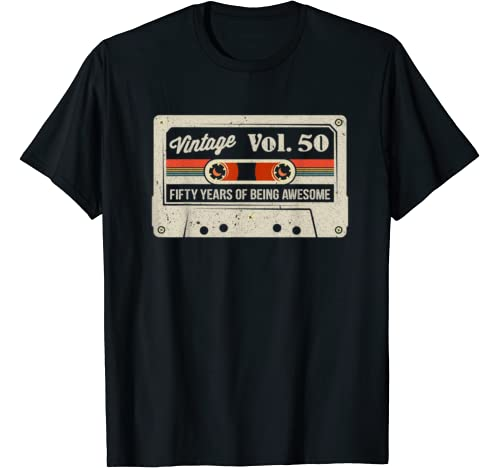 50th Birthday Gifts For Men And Women Funny Vintage 50 Year T Shirt