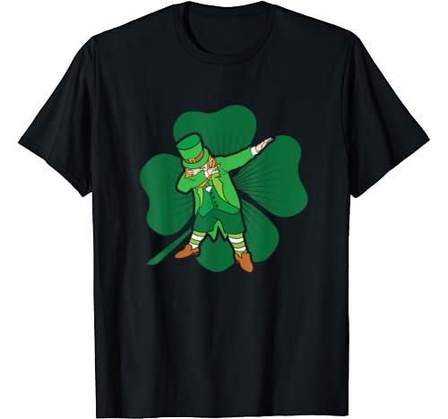 Dabbing Leprechaun Dab Dance Green Clover St Patricks Day T Shirt