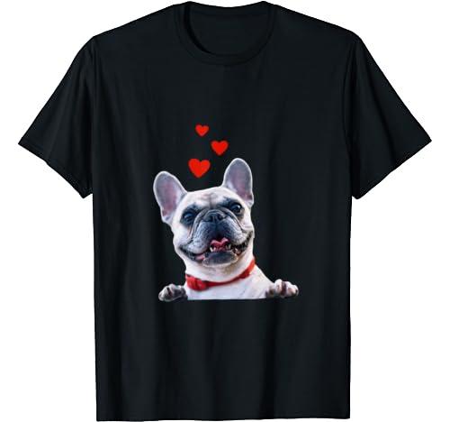Frenchie Hearts I Love French Bulldogs Gift Men Women Kids T Shirt