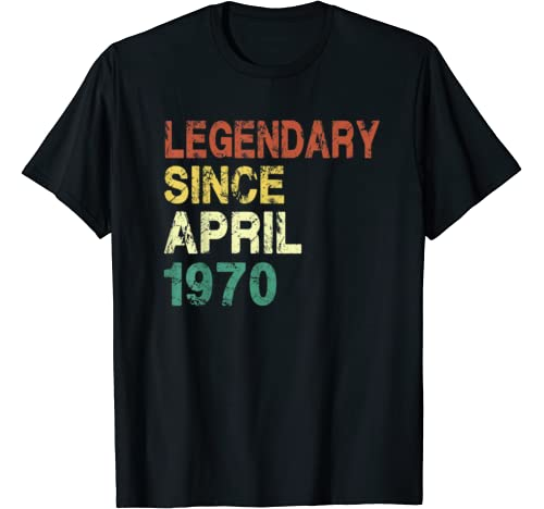 Since April 1970   50 Years Old 50th Birthday Gift T Shirt