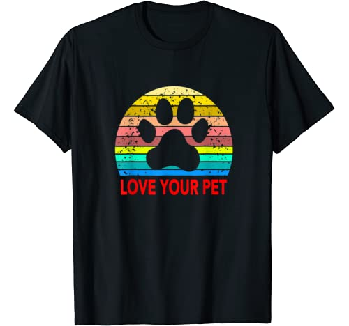 Love & Save Your Pets Animals Cats & Dogs Vintage Sunset T Shirt