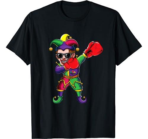 Dabbing Mardi Gras Jester Boxing Dab Costume | Boxer Gift T Shirt
