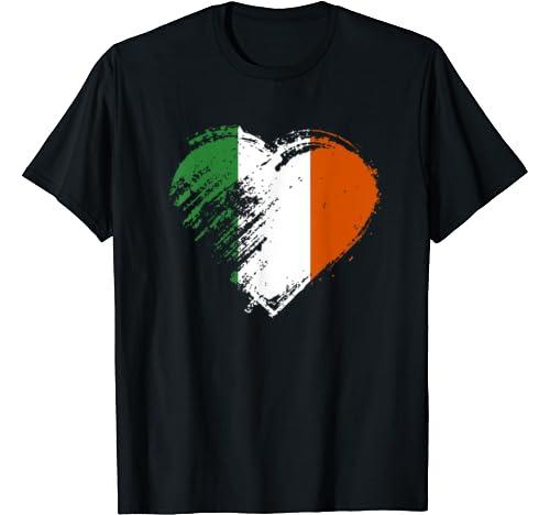 Irish Heart Flag Shirt St. Patricks Day T Shirt
