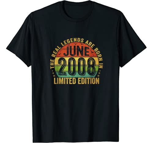 The Real Legend Are Born In June 2008 Limited Edition T Shirt