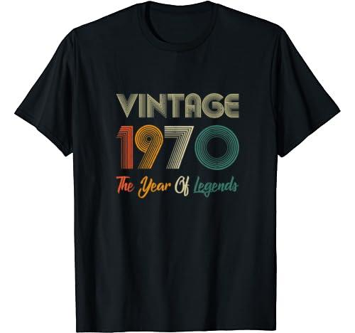 Vintage 1970 50th Birthday Gift Ideas For Men/Women T Shirt