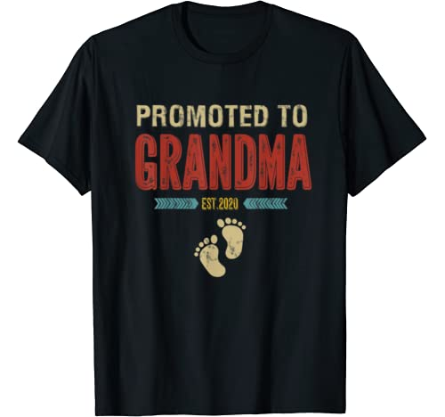Vintage Retro Promoted To Grandma Est. 2020 Mothers Day Gift T Shirt