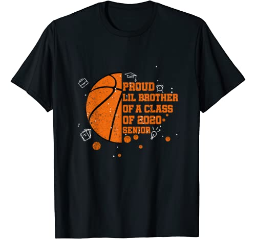 Proud Lil Brother Of A Class Of 2020 Costume Basketball T Shirt