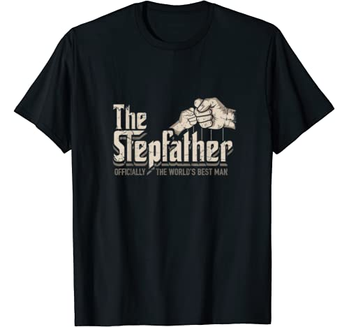 Mens Funny Stepdad Gifts Stepfather Officially World's Best Man T Shirt