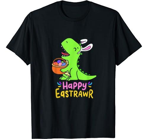 Happy Eastrawr T Rex Dinosaur Bunny Easter Eggs Costume T Shirt