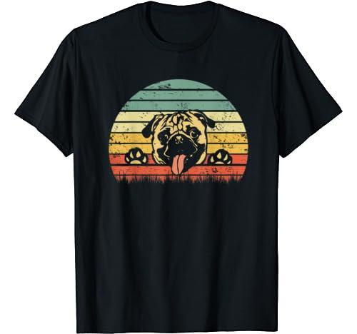 Vintage Pug Dog 60s 70s Gift For Men Women Kids Lover Pug T Shirt