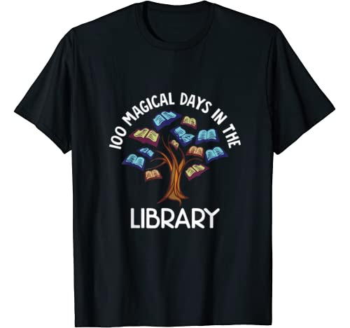 Funny 100 Magical Days In The Library Tshirt T Shirt