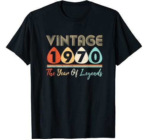 Vintage 1970 50th Birthday Costume Men Women Gifts T Shirt