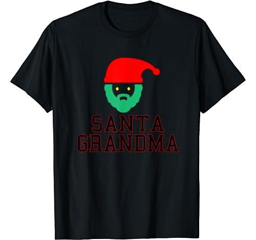 Funny Santa Christmas Tees   Santa Grandma T Shirt