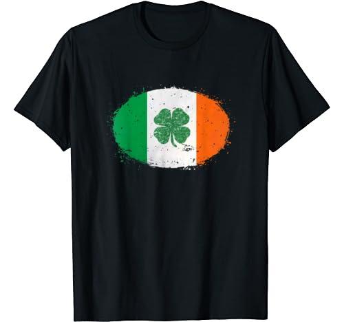 St Patricks Day Shirt   Shamrock Ireland Flag St. Pattys Day T Shirt