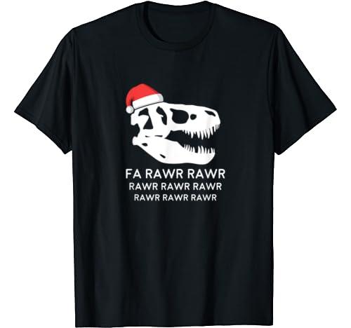 Dinosaur Christmas Shirt, Fa Rawr Rawr Funny T Rex T Shirt