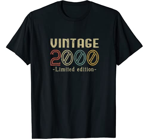 Vintage 2000 20th Birthday 20 Years Old Gift T Shirt