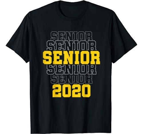 Senior 2020 Graduation Costume Class Of 2020 Gift Girl T Shirt