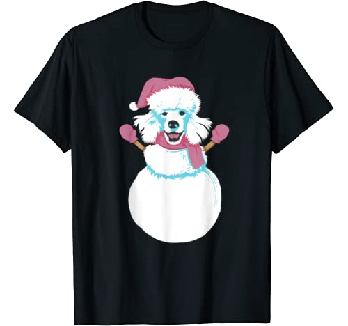 Cool Christmas Poodle Snowman | Funny X Mas Dog Owner Gift T Shirt
