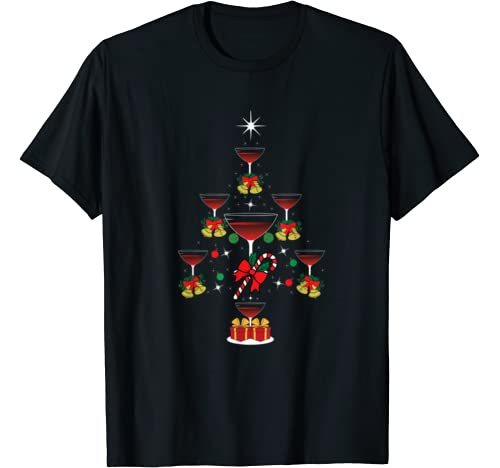 Wine Tree Christmas | Wine Drinker Winter Festive Gift T Shirt