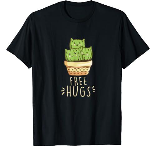 Free Hugs Cactus Tshirt Funny Cute Cactus Gift T Shirt
