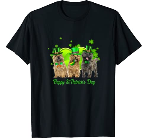 Three Cairn Terrier Dogs Happy St.Patrick's Day Gift T Shirt