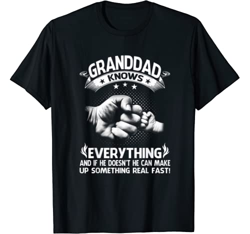 Granddad Knows Everything Funny Father's Day T Shirt