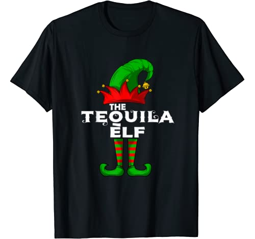 Tequila Elf Family Christmas Group Matching Pj Gift T Shirt
