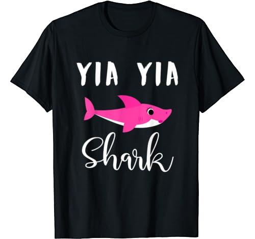 Yia Yia Shark   Mother's Day Christmas Day T Shirt