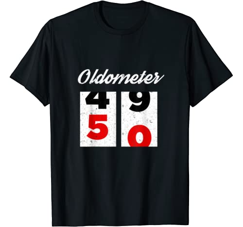 Oldometer 50 Years Old Fifty 50th Birthday Party 1970 Gift T Shirt