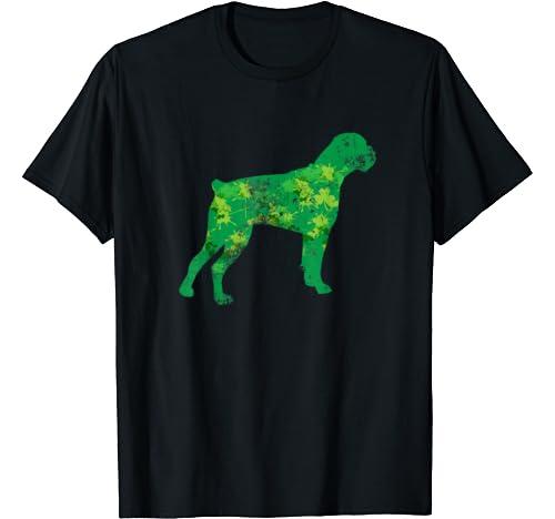 Boxer Dog Graphic Shamrock St Patrick's Day Gifts Dog Lover T Shirt