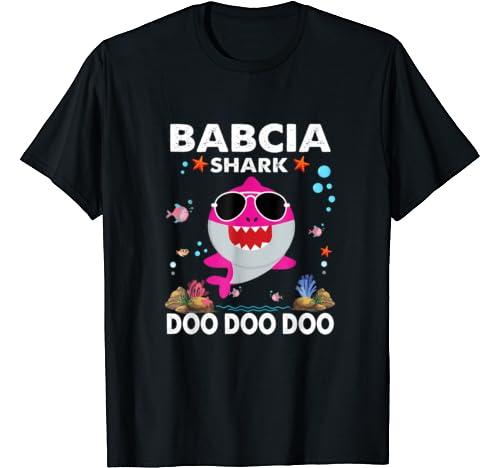 Babcia Shark Grandma Women Christmas Gift Mother's Day T Shirt