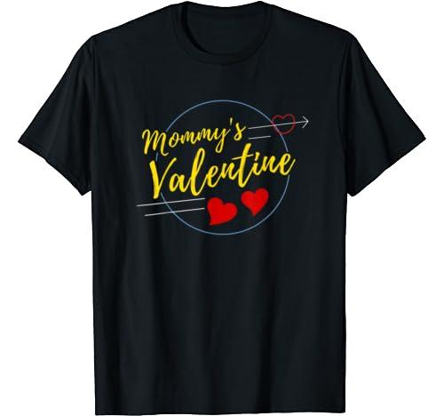 Mommy Valentine Shirt Valentines Day Heart Kids Boys Girls T Shirt