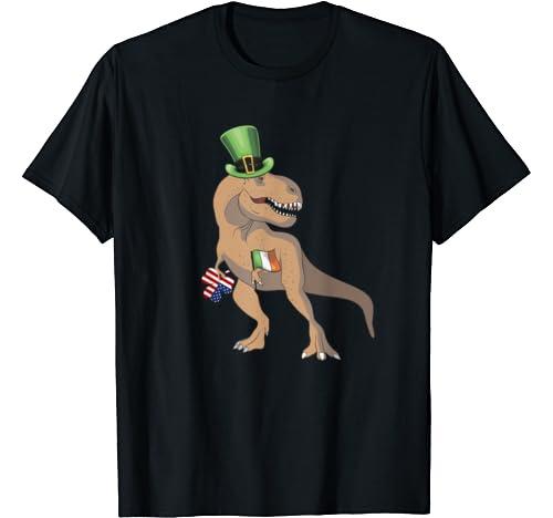 Funny St. Pat T Rex Day Shirt Dinosaur St. Patrick's Day T Shirt