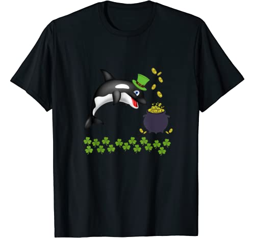Funny Whale St Patricks Day Animal Shamrock T Shirt