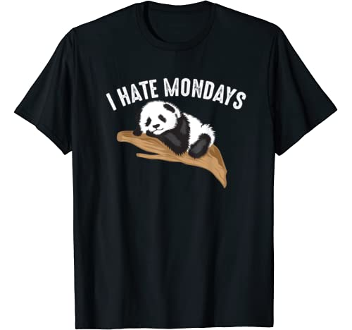 Funny I Hate Mondays | Cool Lazy Panda Sluggish Bear Gift T Shirt