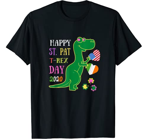 Happy St. Pat T Rex Day Cute St Patricks Day Irish American T Shirt
